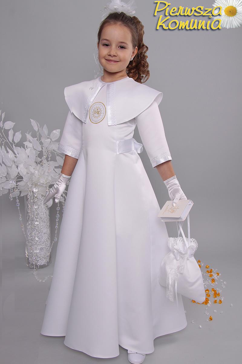 541e62e3c9 Sukienka 14 ST satyna - Sukienki satynowe taliowane - Pierwszakomunia.pl