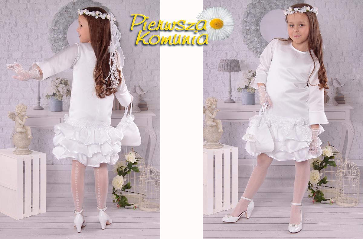 cc2f09ddb4 Elegancka sukienka komunijna F1 EL - Sukienki elegancka kolekcja ...