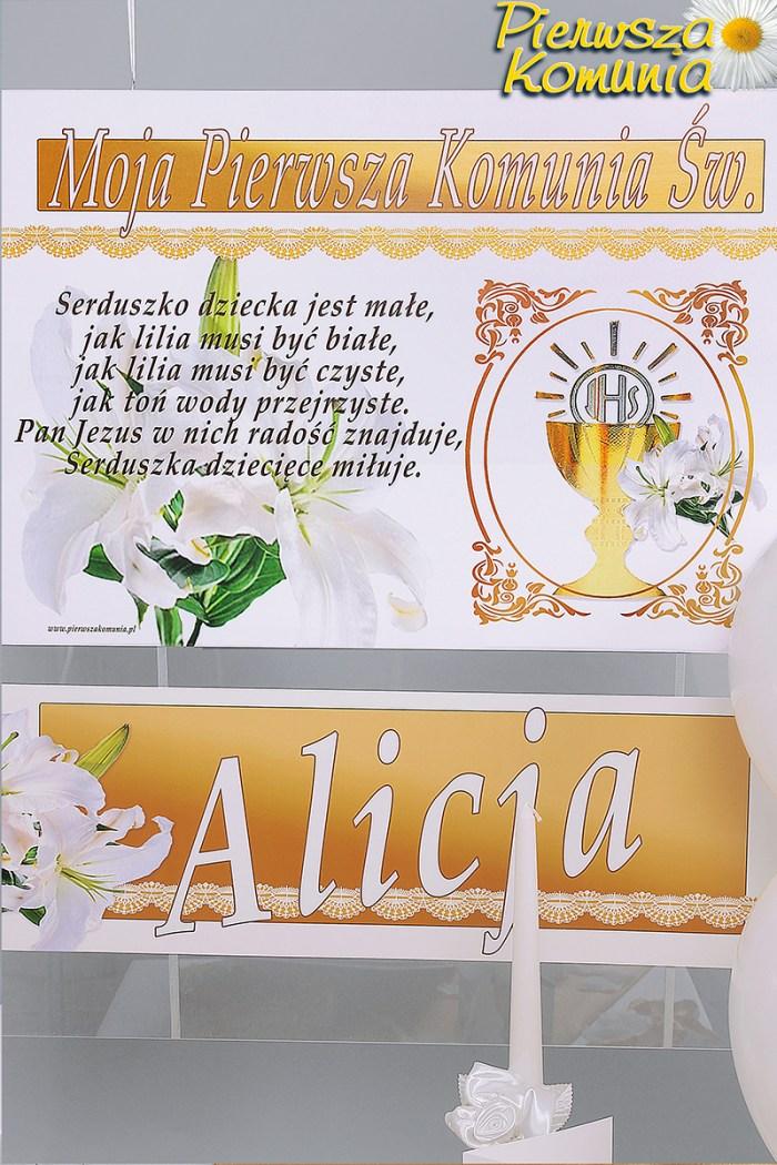 Plakaty Komunijne Z Iminiem Personalizowane Zestawy